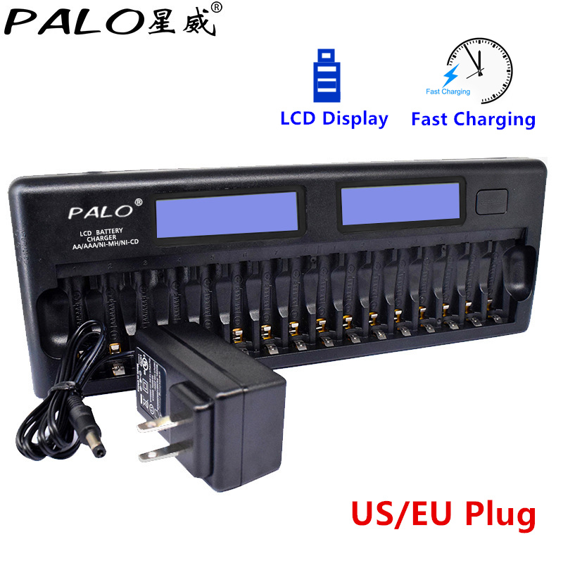 PALO NC32 12/16 Slot LCD Display Fast Multiple Protection Smart KTV Battery Charger