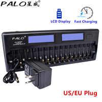 PALO NC32 12/16 ranura LCD pantalla inteligente batería cargador rápido protección múltiple Smart KTV micrófono cargador de batería sin batería