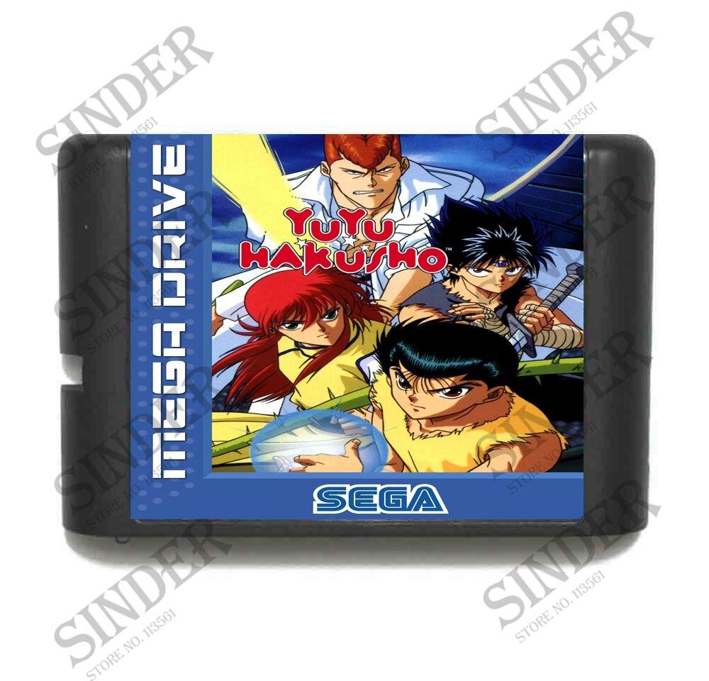 Yu Yu Hakusho-Makyoutohissen 16 bits MD Carte de Jeu Pour Sega Mega Drive Pour Genesis