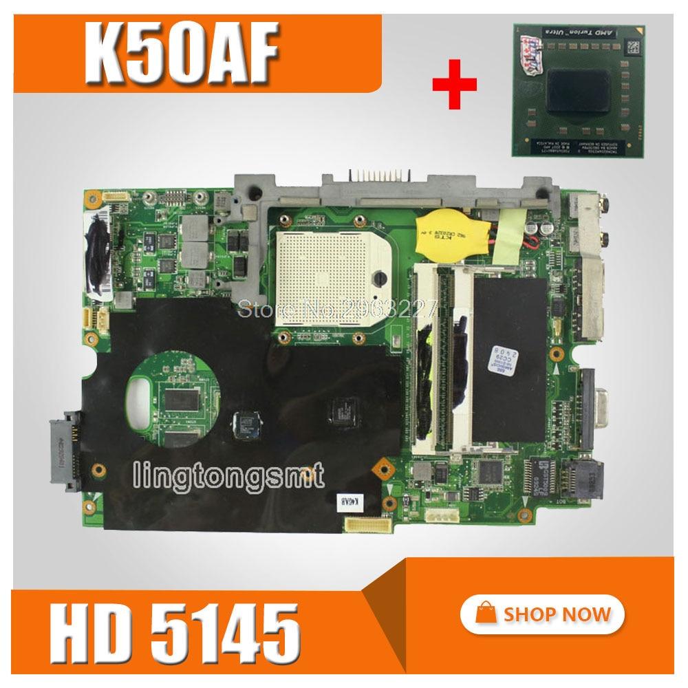send CPU + K50AF Motherboard For ASUS K40AB K40AD K40AF K50AB K50AD K50AF Laptop motherboard K50AF Mainboard K50AF Motherboard