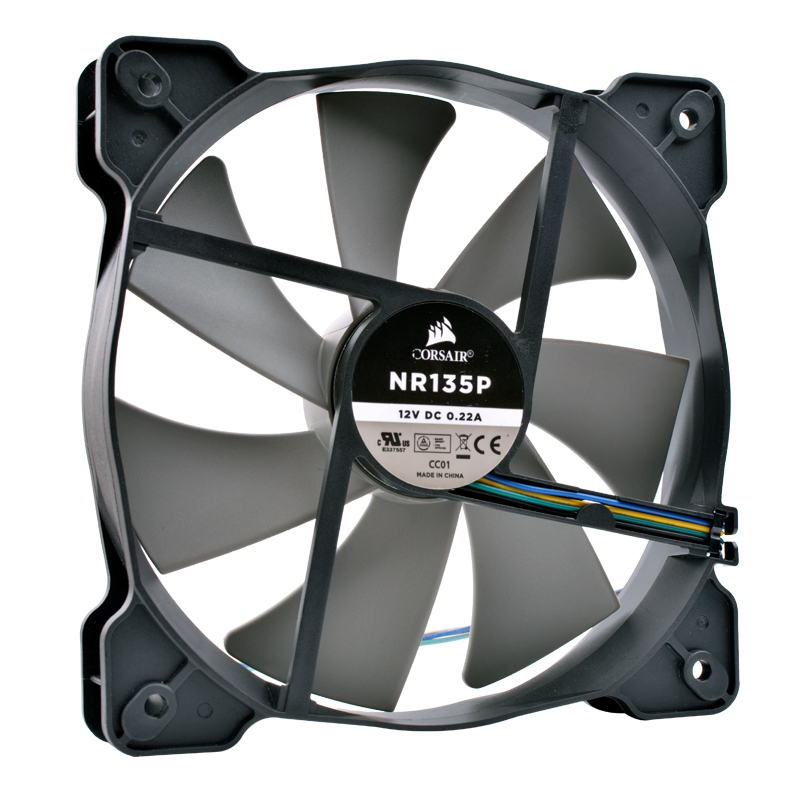 COOLING REVOLUTION 14cm NR135P 135mm 140mm 120mm 14025 13525 12V 0.22A 4-wire 4pin quiet HX750 power cooling fan free delivery original afb1212she 12v 1 60a 12cm 12038 3 wire cooling fan r00