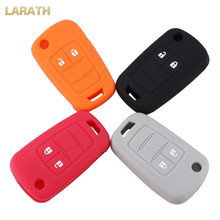 LARATH 4 Colors Silicone Car Key Cover Case for Opel Astra Corsa ADAM S Antara Meriva Zafira 2 Buttons