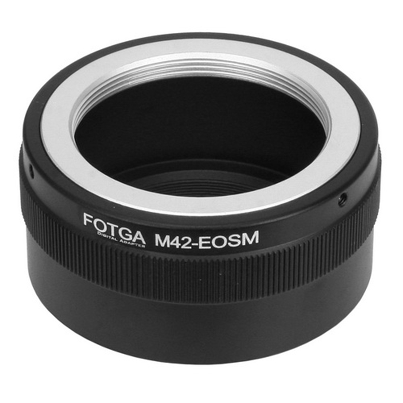 FOTGA M42 Lens Adapter Ring for Canon EOSM M2 M3 EF-M Mirrorless Camera fotga pk eosm pentax pk lens to canon m mount adapter black silver