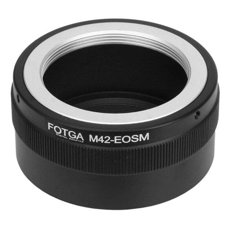 FOTGA M42 anillo adaptador de lente para Canon EOSM M2 M3 EF-M Mirrorless Cámara