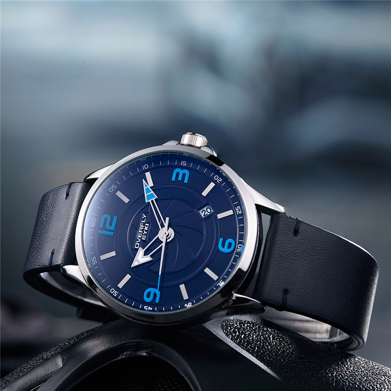 EYKI relogio masculino Fashion Mens Watches Top Brand Luxury Leather Quartz Watch Luminous Sport Men Wrist Watch Men Clock Blue binssaw top brand men luxury fashion dial designer quartz watch male leather wrist watches 2017 mens clock relogio masculino