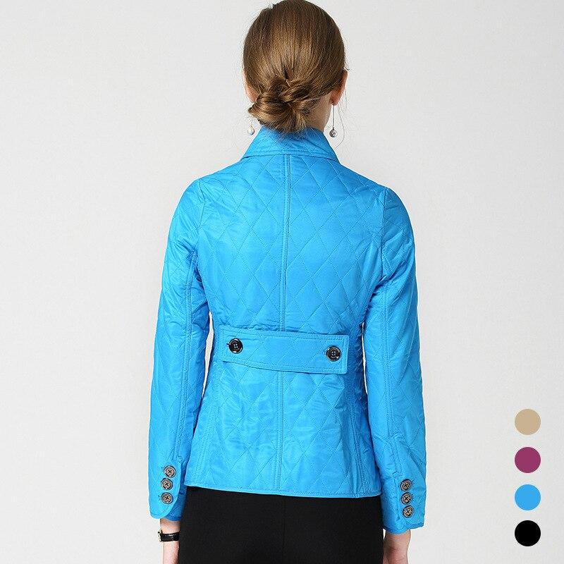 Noir kaki Printemps Revers Chaud Nouveau Burdully De Hiver bleu Losange pourpre Manteau Femmes Parka Veste 2018 Coton Automne Vêtements ETxFqZw