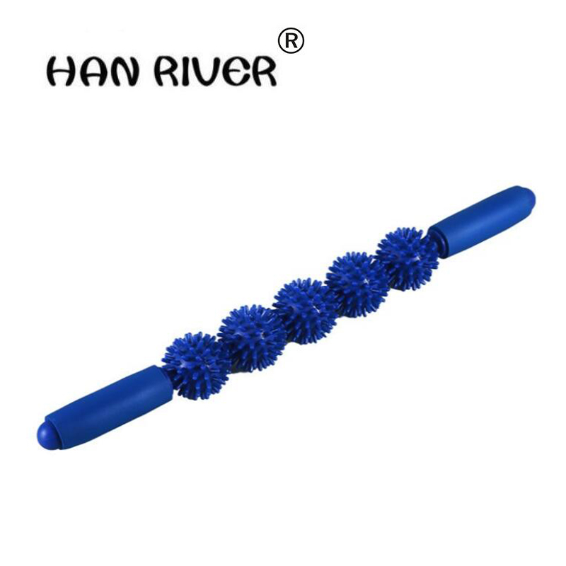HANRIVER free shipping Multicolor thorn ball muscle massage stick Multifunctional massage body massager with high quality muscle good thorn ball suit whole body relax motion massage rolling wheel