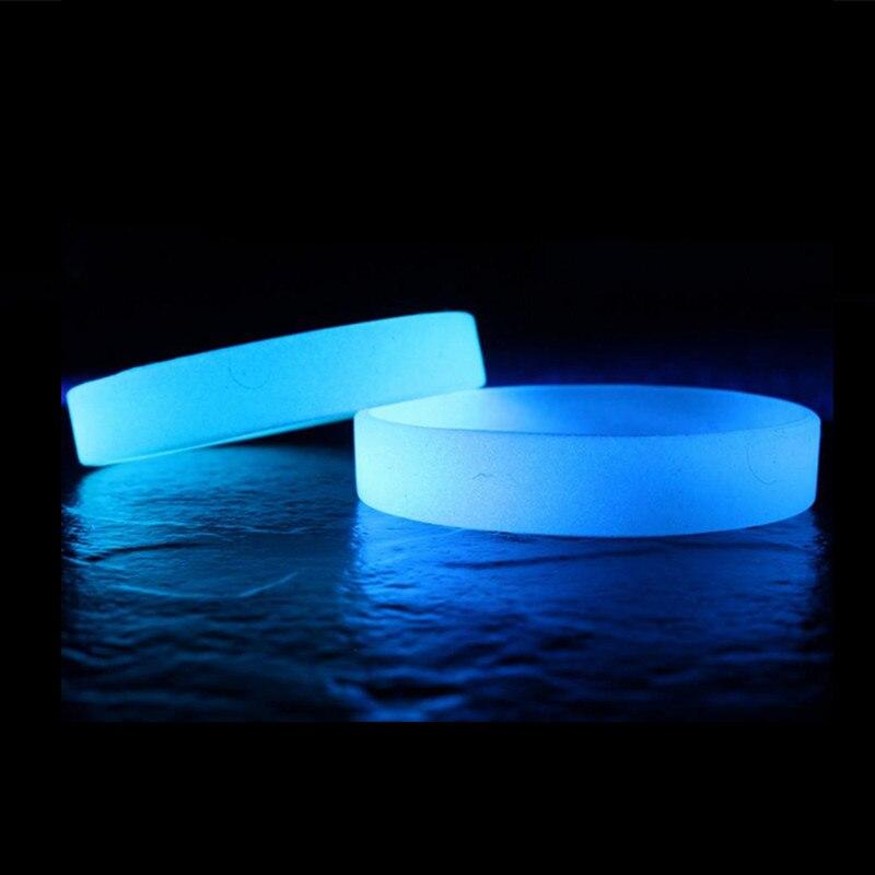 2pcs Luminous Bracelet Hologram Silicone Wristband
