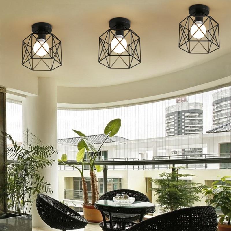 Luzes de Teto abajur luminária sala acende lâmpada Modelo Número : Iron Ceiling Light