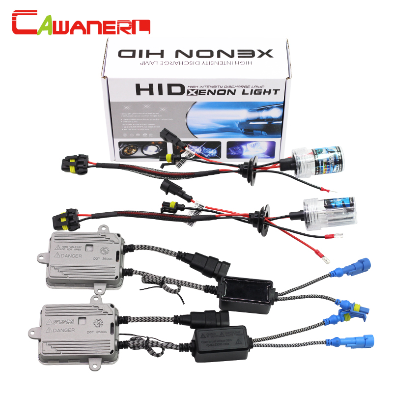 Cawanerl 9005 HB3 9006 HB4 880 881 H1 H3 H7 H8 H11 55W HID Xenon Kit Lamp AC Ballast 4300K Warm White Car Fog Light Headlight