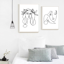 Abstract Line Poster Minimalist Canvas Painting Woman Art Posters Lines Wall Paintings For Bedrooms Unframed