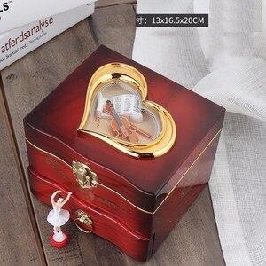 Image 3 - Classic Rotating Dancer Ballerina Piano Music Box Clockwork Plastic Jewelry Box Girls Hand Crank Music Mechanism Christmas Gift