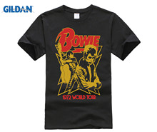 David Bowie Mens 1972 World Tour Tee Tshirt New T-Shirt Size S to 3XL