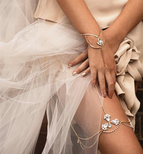 1 pcs New Bohemian Vintage Crystal Anklet Bracelet For Women Foot Jewelry Barefoot Sandal Crystal Leg Chain Anklet Beach Wedding