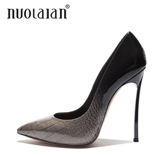 2018 Elegant Woman Pumps Pointed Toe High Heel Women Fashion Shoes Ladies Summer Patent Leather Heels Womens Platform
