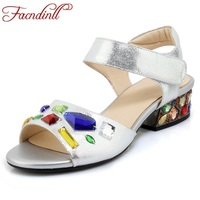 FACNDINLL New Fashion Patent Leather Summer Shoes Woman Gladiator Sandals Open Toe Women Wedding Dress Shoes