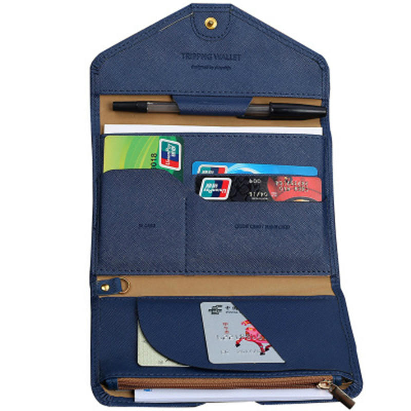 Money Wallet Purse-Bag Card-Holder Flight-Bit Documents Passport-Cover Foldable Credit