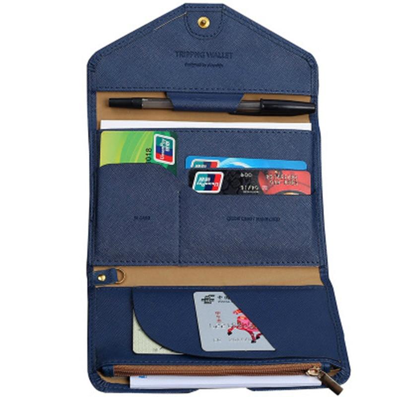 Travel Passport Cover Foldable Credit Card Holder Money Wallet ID Multifunction Documents Flight Bit License Purse Bag BA01