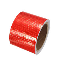 цена на 5 x 300cmm Safety Reflective Warning Tape Film Sticker Red And White Reflective Tape Sheeting Styling Reflective Strip