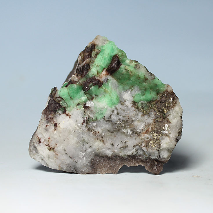 Rough emerald gemstone mineral beryl crystal natural ore teaching ...