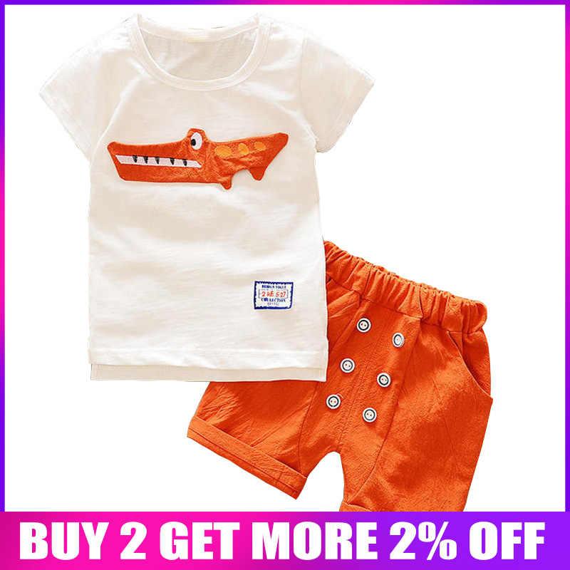 be20855d8 BibiCola 2018 verano bebé niño conjuntos de ropa casual Camisa de manga  corta de algodón +