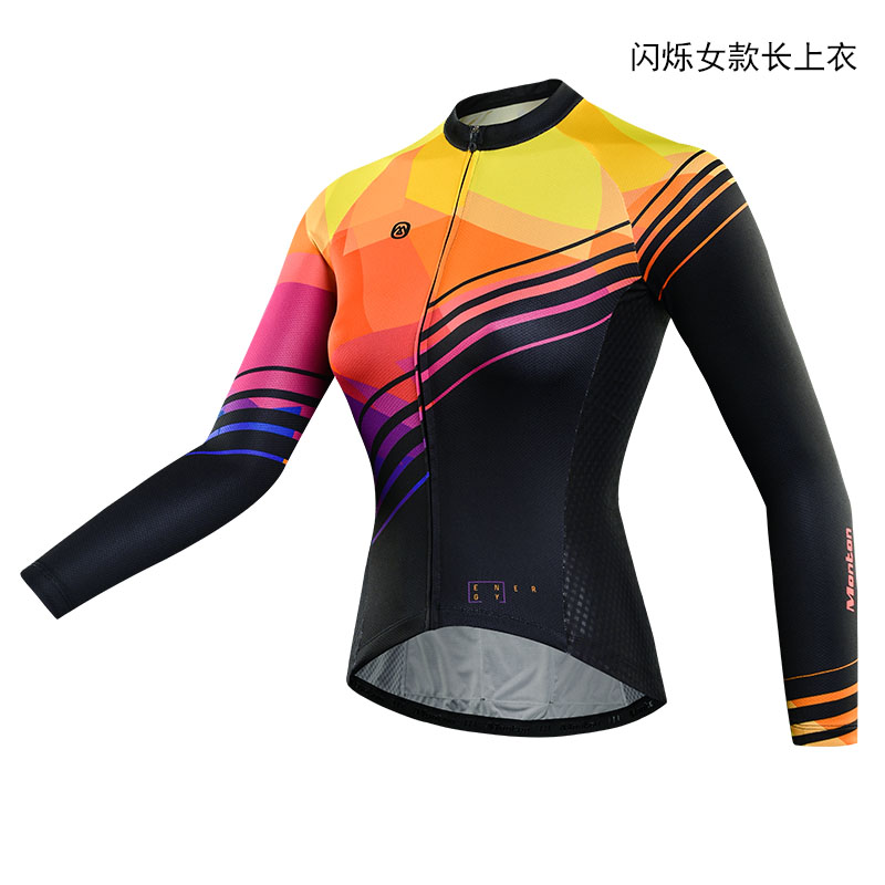 MONTON Women Cycling Jersey Breathable Outdoor Sports Cycling Jersey Long Sleeves Bicycle MTB Clothing Shirts Wear Bike Jersey gore bike wear women s xenon lady jersey