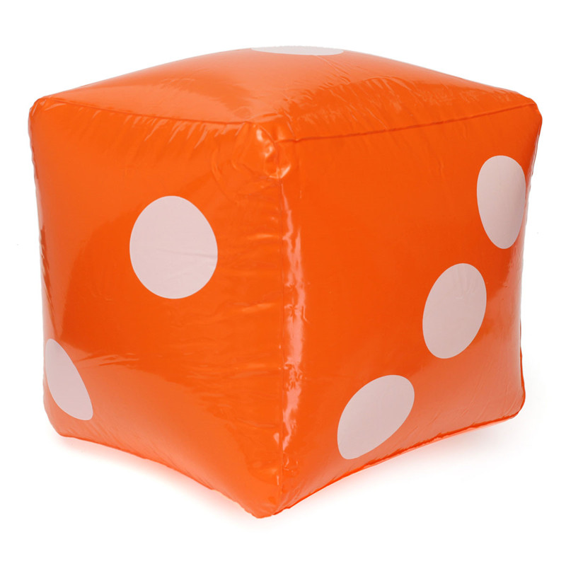 High Quality Outdoor Games 30cm Novelty Giant Inflatable Number Dice Beach Pool Party Garden Entertainment Gifts For Friends Sports & Entertainment