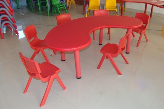 Enfants table en plastique color b b maternelle meubles for Table enfant rouge