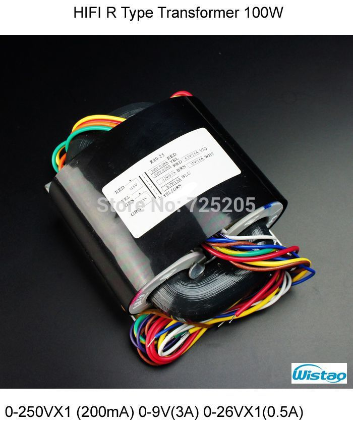 ФОТО HIFI Amplifier R Type Transformer 0-250VX1 (200mA) 0-9V(3A) 0-26VX1(0.5A) 0-18V(0.5A) for Tube MM/MC Phono Preamplifier PCBA Kit