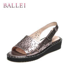 BALLEI Wedge Soft  Ankle Strap  Sandal