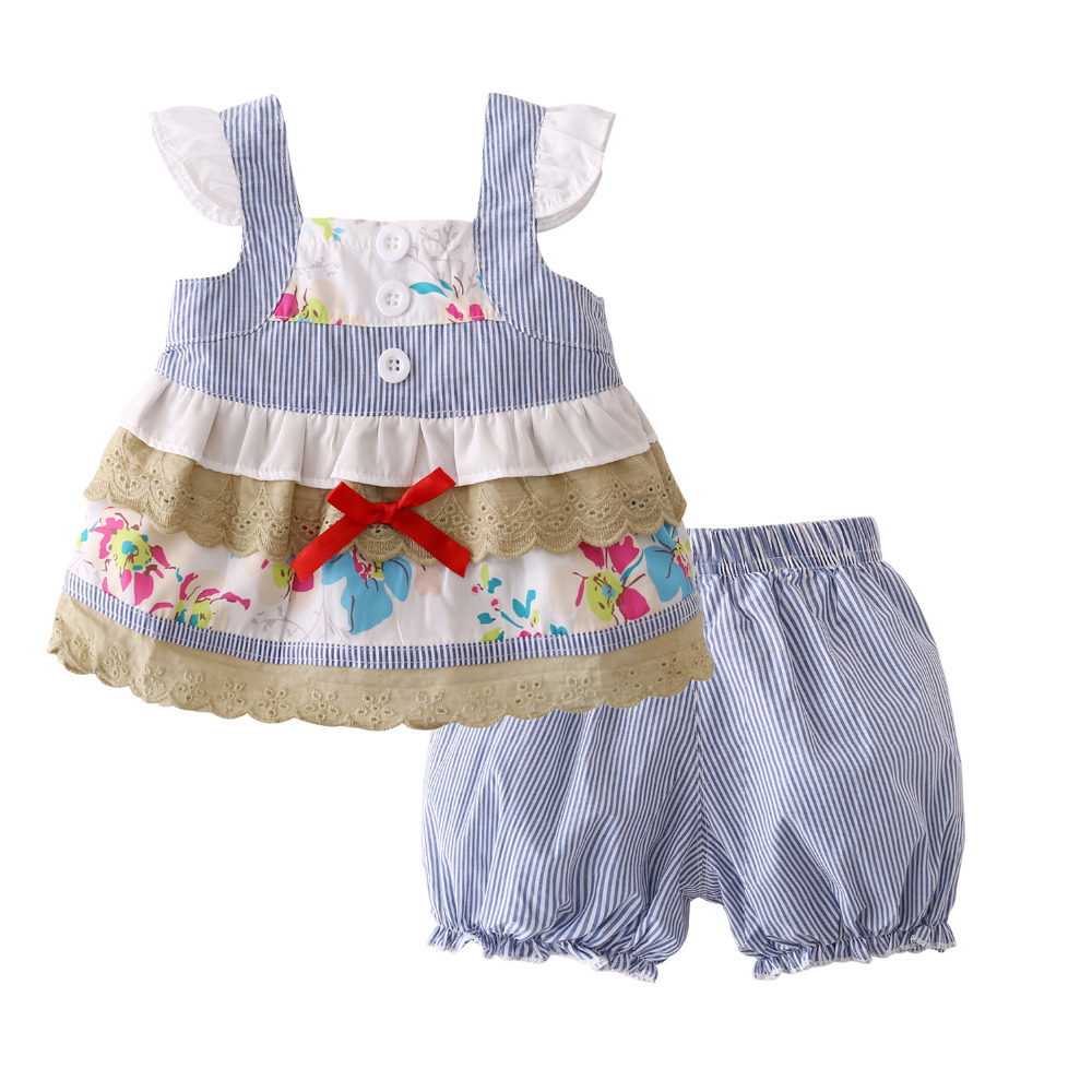 2017 Hot Selling Summer infant clothing Baby Girls
