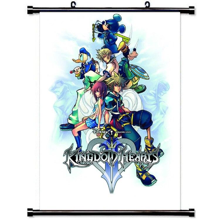 Manga Kingdom Hearts Wall Scroll Painting 40x60 Picture