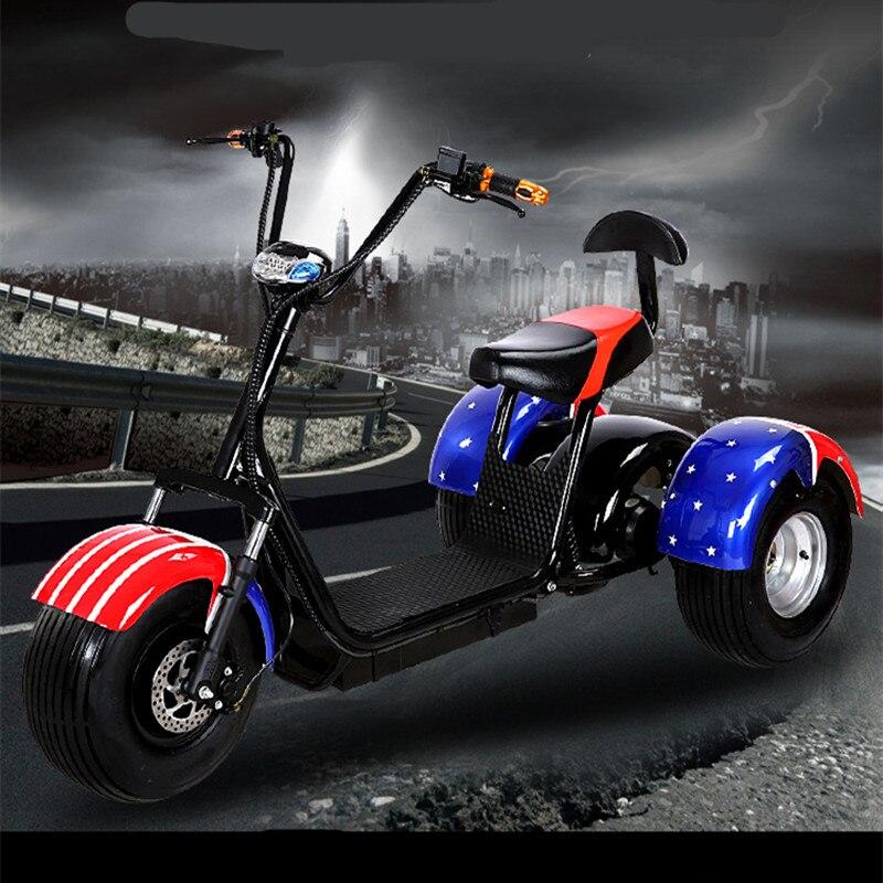 Électrique tricycle, vélo électrique, 60 v 1000 w Halley tricycle, électrique vtt, trois roue batterie de voiture fabricant qui