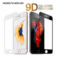 9D Curved Edge Tempered Glass On The For iPhone 7 8 Plus X XS Full Cover Screen Protective Glass For iPhone 7 8 6 6S Plus Film