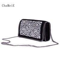 Newest Luxury Brand Design Women Crossbody Bag Bling Bling Handmade Dimond Fashion Messenger Bag PVC