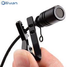Ollivan 2.5m Omnidirectional Metal Microphone 3.5mm Jack Lavalier Tie Clip Microphone Mini Audio Mic for Computer Laptop Phone(China)