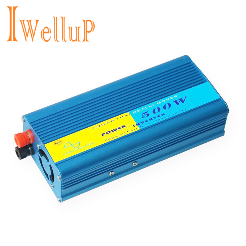 Pure Sine Wave Inverter 12v 220v 500W Full Power 1000w Peak Pure Sine Wave Solar Power Inverter 12v 220v DC to AC Power Inverter trustfire tr j18 flashlight 5 mode 8000 lumens 7 x cree xm l t6 led by 18650 or 26650 battery waterproof high power torch