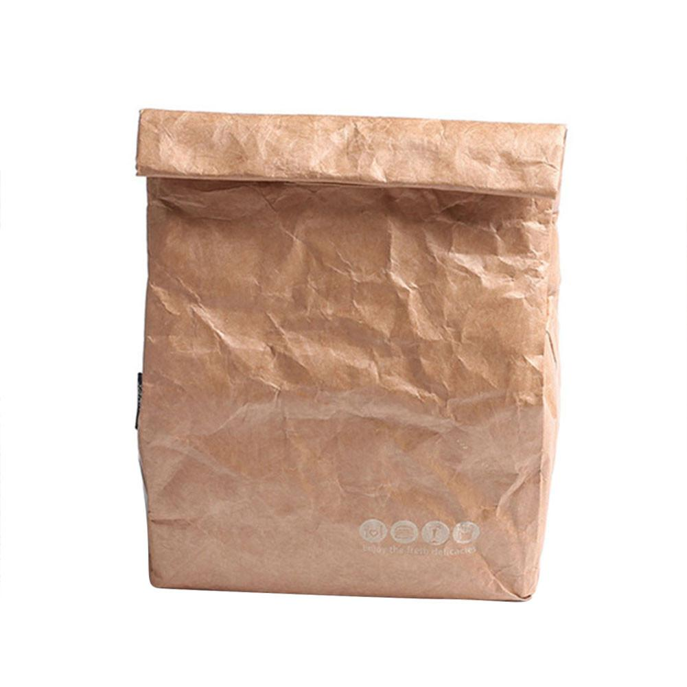 Us 4 31 20 Off 6l Brown Paper Lunch Bag Environmentally Friendly Reusable Box Durable Insulated Thermal Kraft Covered In Storage