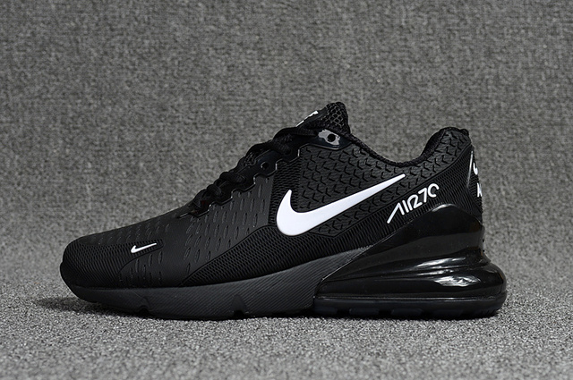 reputable site a0f69 77221 2019 New Nike Air Max 270 Womens Running Shoes Black White Air 270 II Nano  Plastic