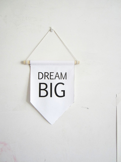 dream big canvas banner,motivation wall quotes,Nursery decor wall ...