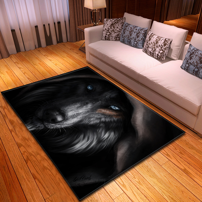 Nordic Style 3D Wild Wolfs Print Carpets For Living Room Bedroom Area Rugs Soft Flannel Child Room Play Mat/Rug Boys Gift Carpet
