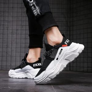 Image 4 - Мужские кроссовки, мужская повседневная обувь для прогулки, вождения, Офисная Уличная обувь на плоской подошве комфортная легкая дышащая мужская обувь на весну