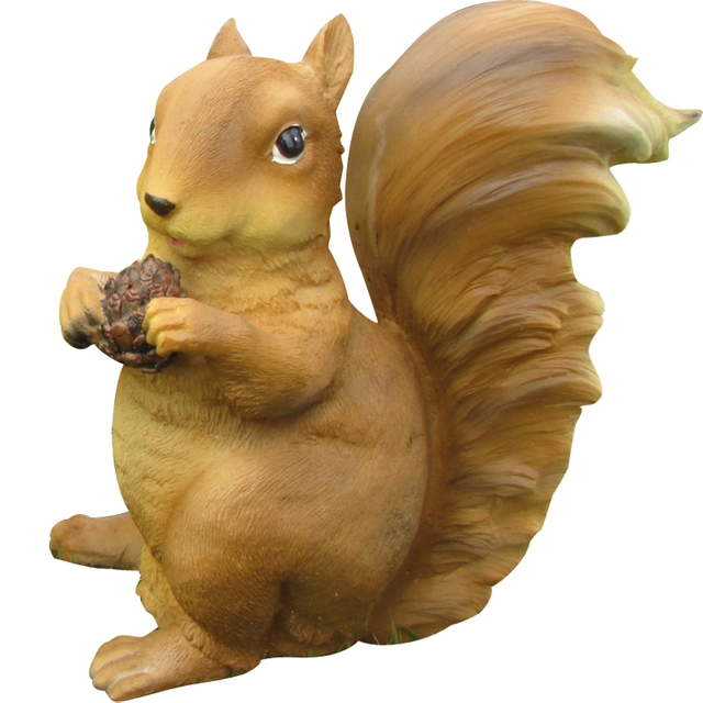 Cute Animal Woodland Squirrel Statue Art Sculpture Resin Art&Craft Home Decoration Accessories Gifts R154