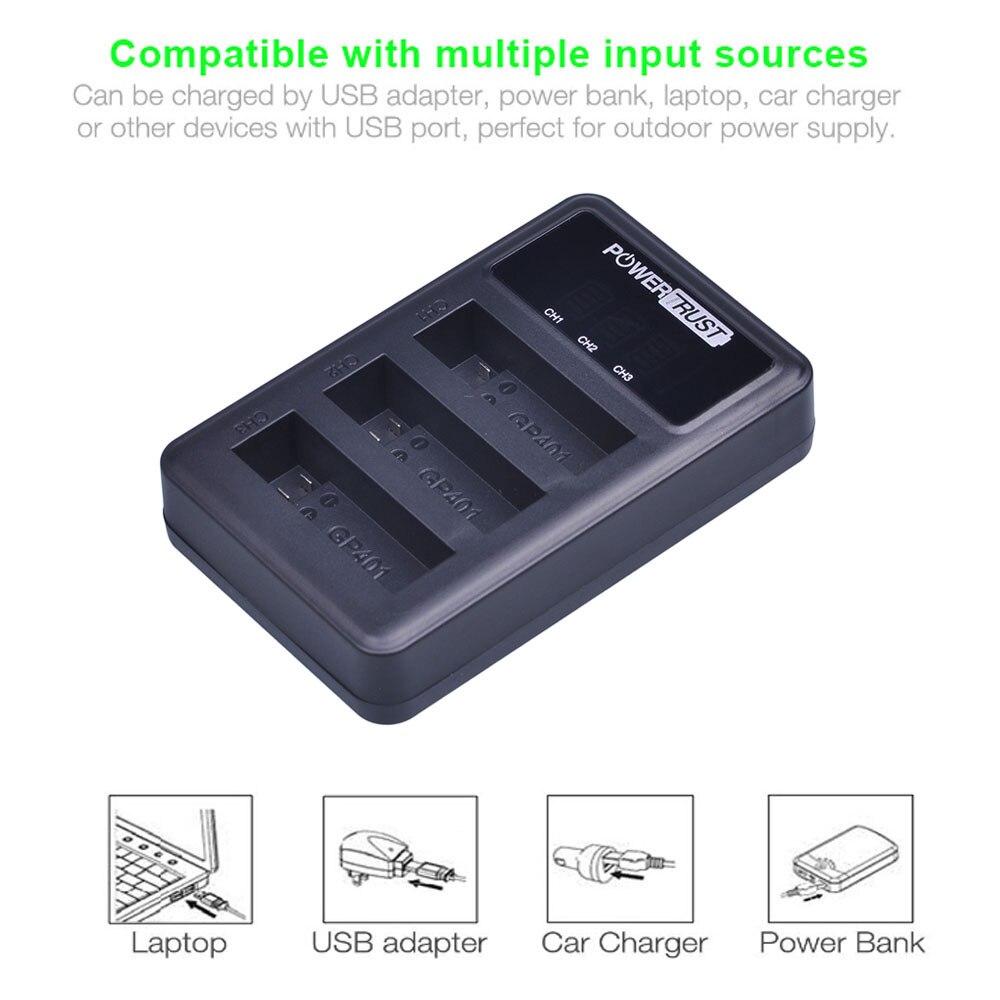 4 шт. 1680 мА/ч, AHDBT-401 Батарея для экшн-Камеры Gopro Hero 4 Батарея AHDBT401 AHDBT 401 + светодиодный 3-Порты и разъёмы USB Зарядное устройство для GoPro Hero4 HERO4 Каме...