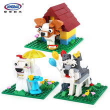 XingBao 18002 402Pcs Genuine The Funny Brick Cuty Puppy Set Model Building Blocks Bricks Educational Toys For Children