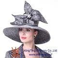 Kueeni Женщин Шляпы Специальный Конструктор Diamond Корпус Свадьба Церковь Шляпы Летняя Мода Большой Преувеличивать Вечернее Платье Шляпы