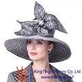 Kueeni Mulheres Chapéus Designer Especial Revestimento de Diamante Vestido de Noite Festa de Casamento Da Igreja Chapéus Moda Verão Grande Exagerar Chapéus