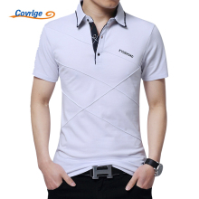 Covrlge Plus Size 3XL 4XL 5XL Polo Shirt Men Short Sleeve Breathable Polos Brand Solid Slim Fit Mans Tee Shirts Jersey MTP040