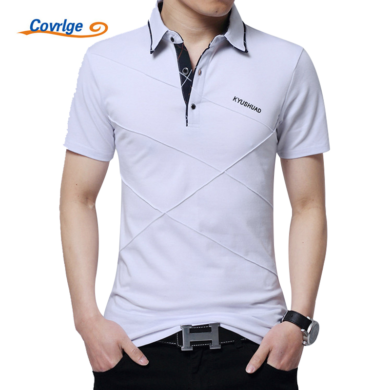 Covrlge Plus Size 3XL 4XL 5XL Polo Shirt Men Short Sleeve Breathable Polos Brand Solid Slim Fit Man's Tee Shirts Jersey MTP040