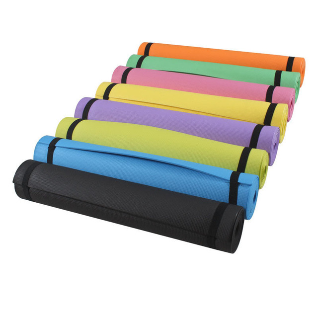 EVA Yoga Mat 4mm Non-slip Lose Weight Gym Fitness Exercise Pad 183*61cm Thick Pilates Folding EVA Form Yoga Mat With Yoga Strap